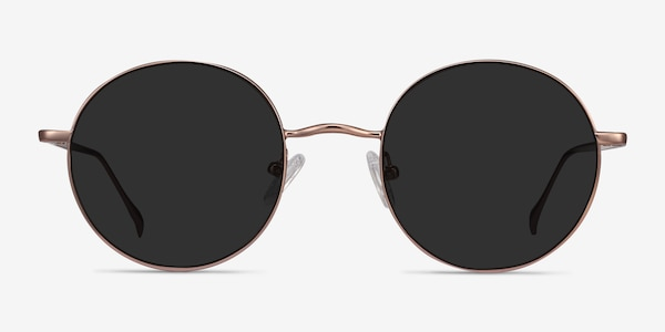 Sun Synapse Rose Gold Metal Sunglass Frames