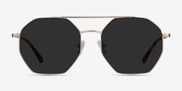 Sun Eight Golden Metal Sunglass Frames