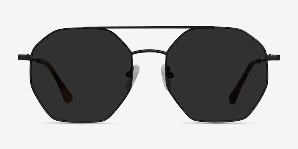Sun Eight Black Metal Sunglass Frames