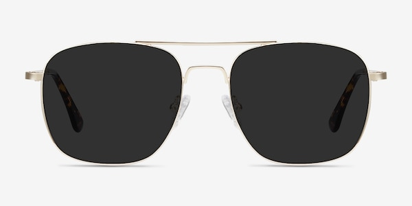 Sun Fame Golden Metal Sunglass Frames