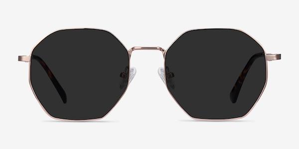 Sun Octave Rose Gold Metal Sunglass Frames