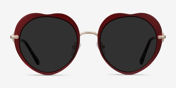 Luv Burgundy Metal Sunglass Frames