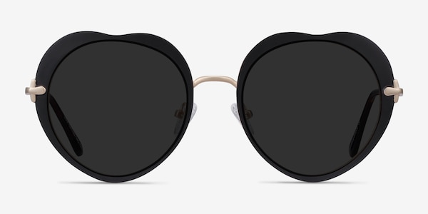 Luv Black Metal Sunglass Frames