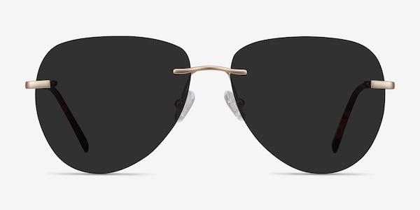 Martin Matte Gold Metal Sunglass Frames