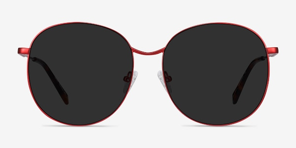 Sage Red Metal Sunglass Frames