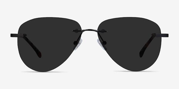 Locket Black Metal Sunglass Frames