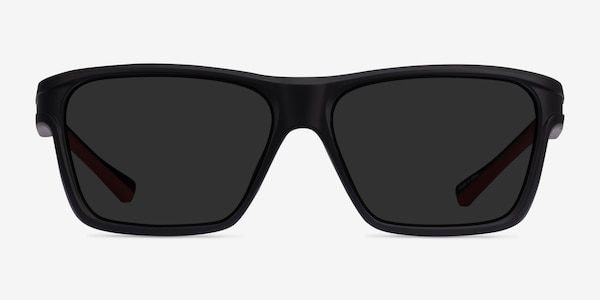 Win Black & Red Plastic Sunglass Frames