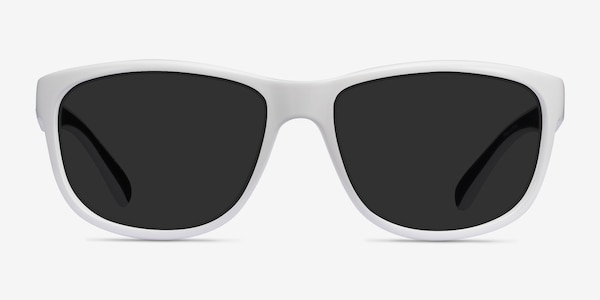 Determined White Plastic Sunglass Frames