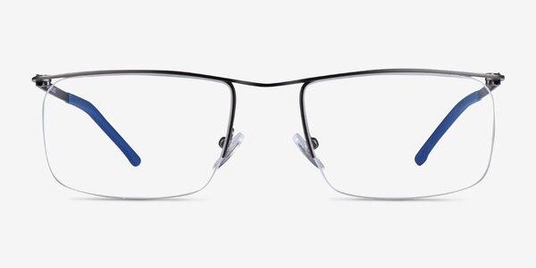 Point Gunmetal  Metal Eyeglass Frames