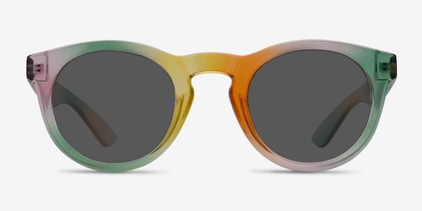 Sunset  Yellow  Plastic Sunglass Frames
