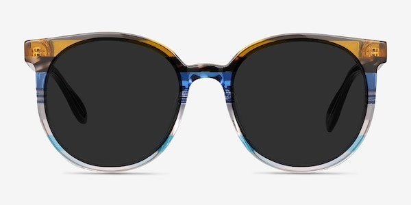 Valence Brown Blue Acetate Sunglass Frames