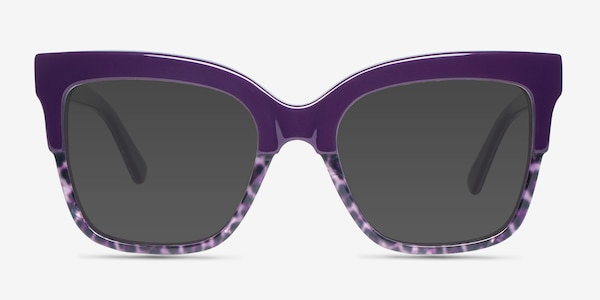 Intrigue Purple Leopard Acetate Sunglass Frames