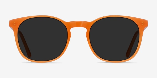Safari Orange Acetate Sunglass Frames