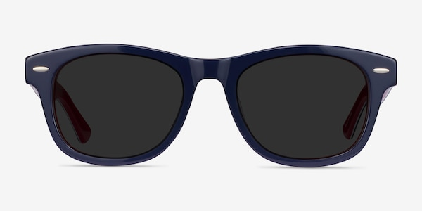 Parade Navy & Red Acetate Sunglass Frames