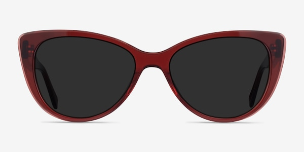 Lamarr Clear Red Acetate Sunglass Frames