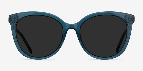 Cinematic Clear Teal Acetate Sunglass Frames