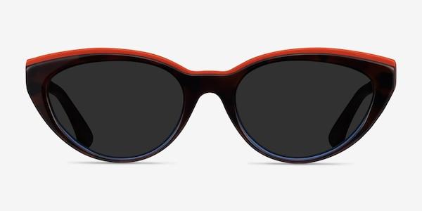 Palm Beach Red Tortoise Blue Acetate Sunglass Frames