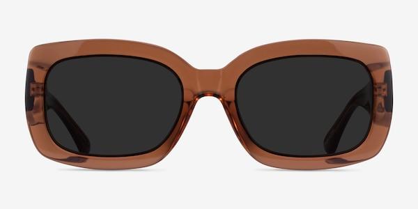Courteney Clear Brown Acetate Sunglass Frames
