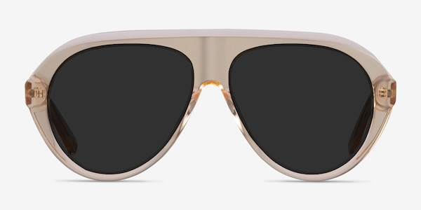 Map Clear Brown Acetate Sunglass Frames