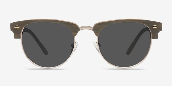 The Hamptons Walnut & Gold Acetate-metal Soleil de Lunette de vue