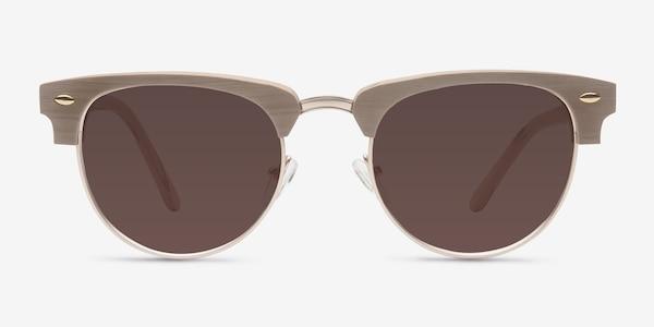The Hamptons Oak & Silver Acetate-metal Sunglass Frames