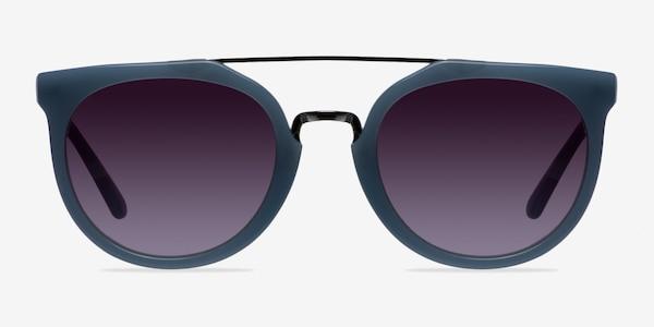 Bali Blue/Silver Acetate-metal Sunglass Frames