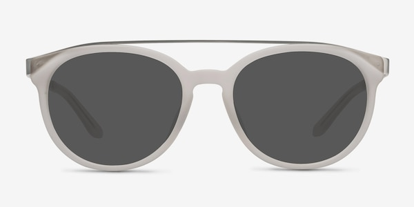Morning Breeze Matte White Acetate-metal Sunglass Frames