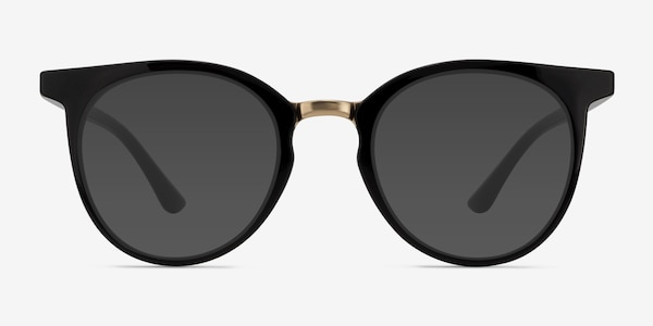 Lulu Black Plastic-metal Sunglass Frames