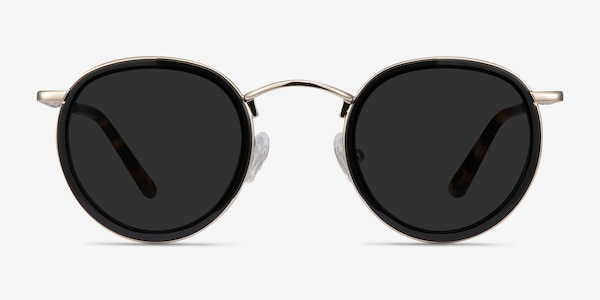 Rollin Black Acetate-metal Sunglass Frames