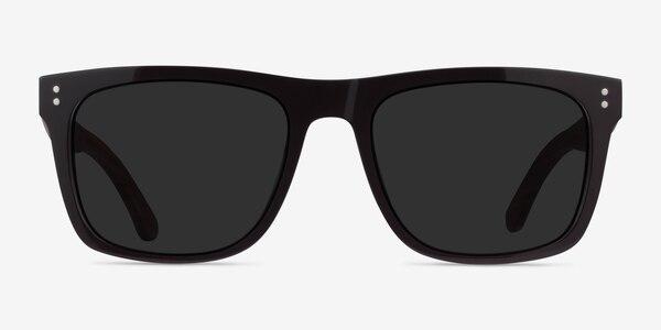 Grow Dark Brown & Wood Wood-texture Sunglass Frames