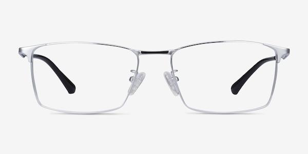 Decider Silver Titanium Eyeglass Frames