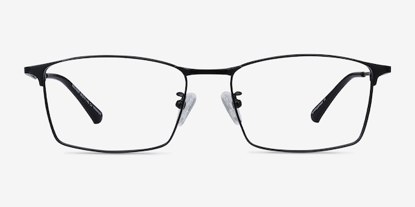 Decider Black Titanium Eyeglass Frames