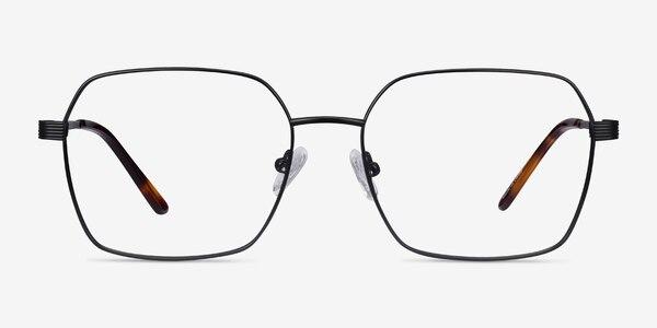 East Black Titanium Eyeglass Frames