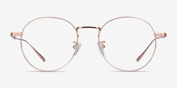 Geometry Rose Gold Titanium Eyeglass Frames