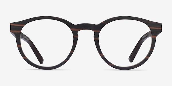 Jungle Striped Dark Wood Wood-texture Eyeglass Frames