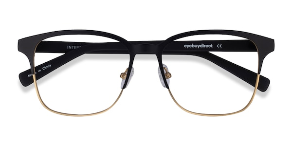 0126111529 Matte Black Golden Intense - Fashion Metal Eyeglasses