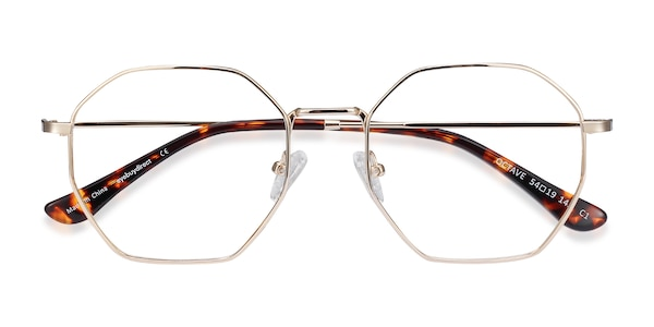 Octave Square Golden Frame Glasses Eyebuydirect
