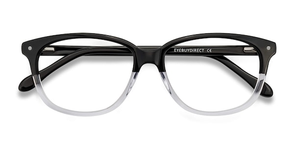 Escape Rectangle Clear Black Frame Eyeglasses Eyebuydirect
