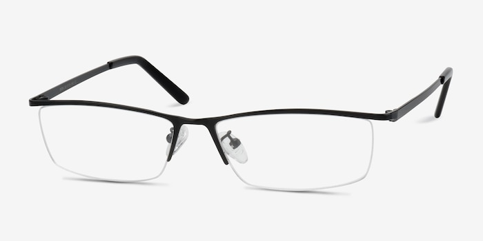 Boon Black Metal Eyeglass Frames from EyeBuyDirect, Angle View