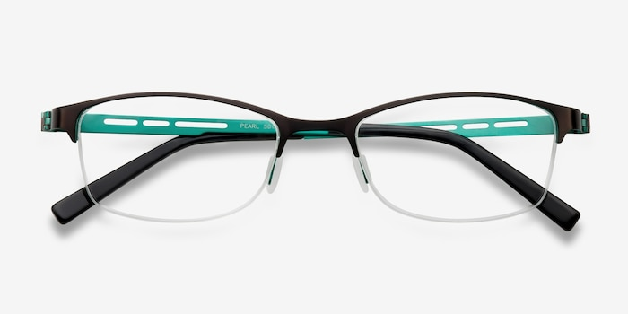 Pearl Black Metal Eyeglass Frames from EyeBuyDirect, Closed View