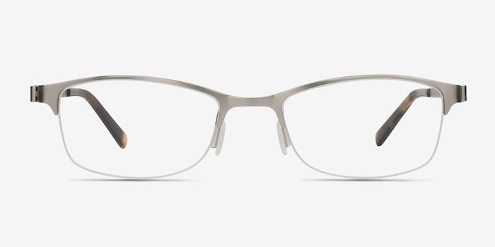 Pearl Argenté Métal Montures de Lunette de vue d'EyeBuyDirect, Vue de Face