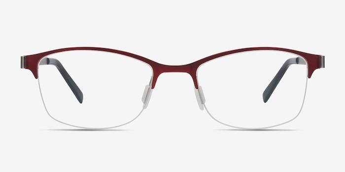 Pearl Rouge Métal Montures de Lunettes d'EyeBuyDirect, Vue de Face