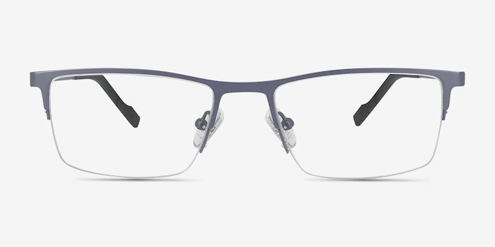 Variable Gray Metal Eyeglass Frames from EyeBuyDirect, Front View