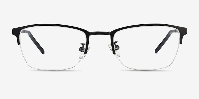 Argil Matte Black  Metal Eyeglass Frames from EyeBuyDirect, Front View