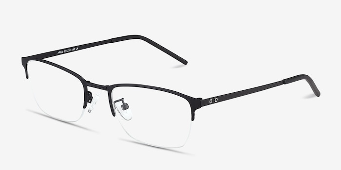 Argil Matte Black  Metal Eyeglass Frames from EyeBuyDirect, Angle View