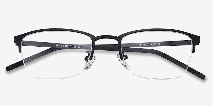 14d8c51533bc5 Argil Matte Black Metal Eyeglass Frames from EyeBuyDirect