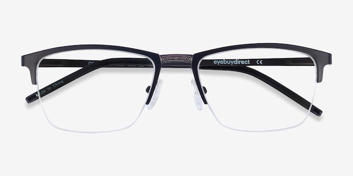 Osmosis Noir Métal Montures de Lunettes d'EyeBuyDirect, Vue Rapprochée