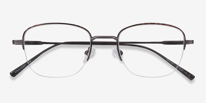 Navigator Tortoise Metal Eyeglass Frames from EyeBuyDirect, Closed View