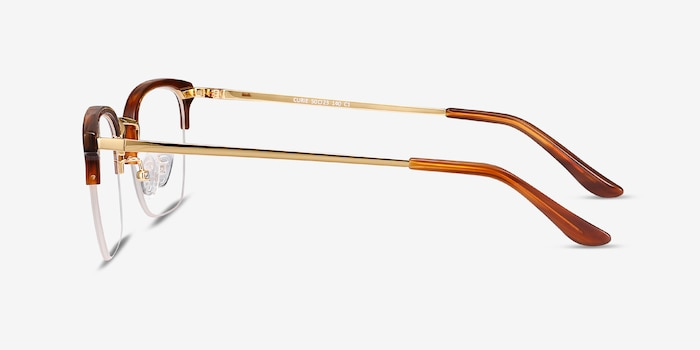 Curie Brown Acetate Eyeglass Frames from EyeBuyDirect, Side View