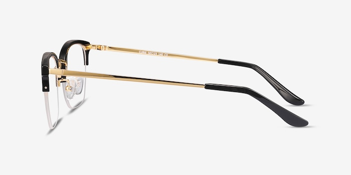 Curie Black Metal Eyeglass Frames from EyeBuyDirect, Side View